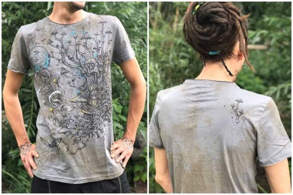 T-Shirt Shroombeard strom rust Plazmalab Streewear Psywear