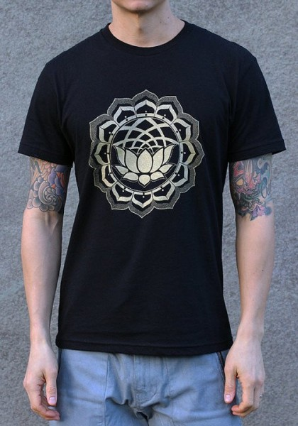 T-Shirt Lotus schwarz