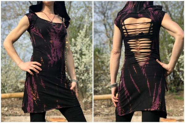 Kleid Batik schwarz