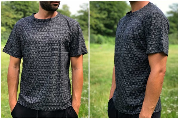 T-Shirt Flower of Life schwarz