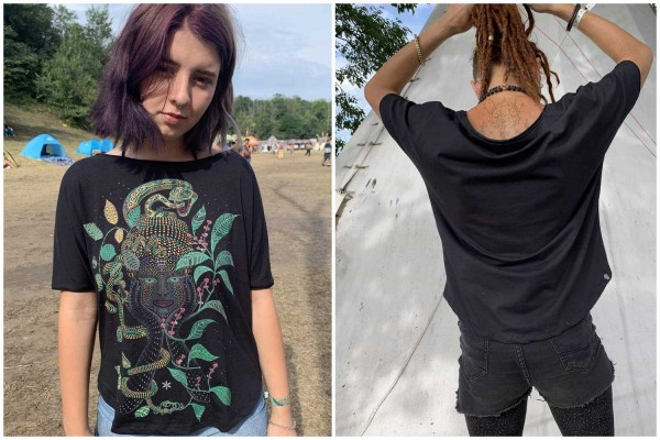 T-Shirt Women AYA schwarz