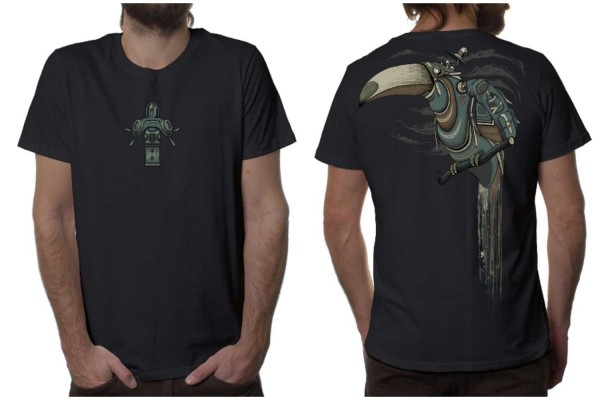 T-Shirt SHLOOKY dunkelgrau