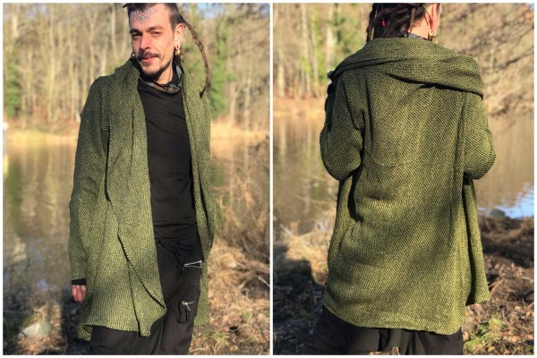 Mantel Kuntur grün