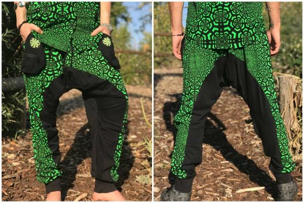 Baggy Pant lang Psei grün uv