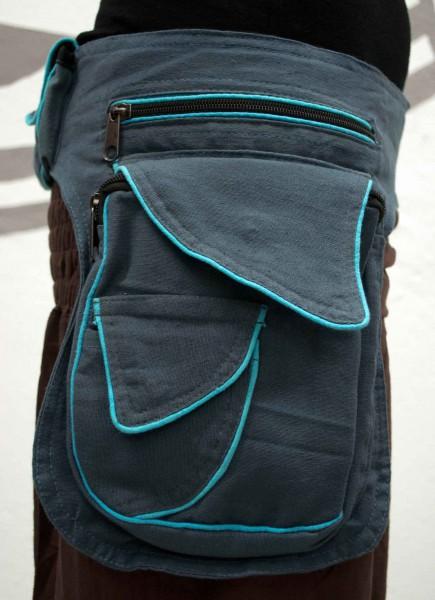 Gürteltasche blau grosse Tasche