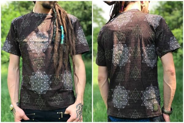 T-Shirt Oktogon braun