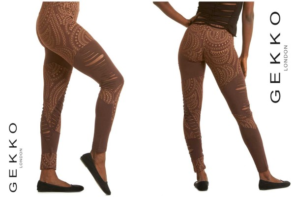 Leggins Pattern braun