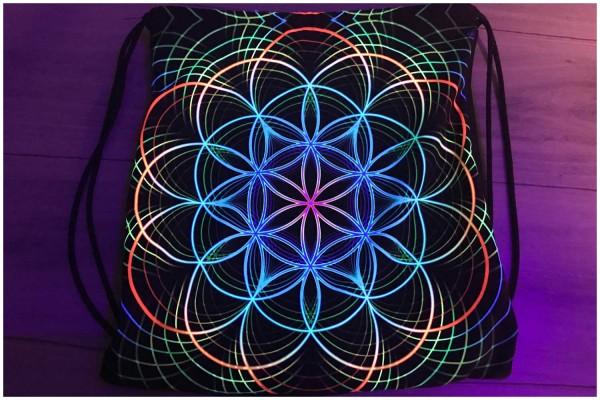 Rucksack Neon Flower 1 uv aktiv