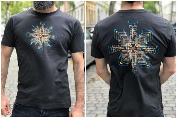 T-Shirt In Cube khaki ● uv aktiv