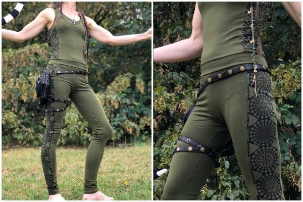 Jumpsuit cuts Geometrixx olive
