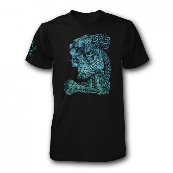 T-Shirt Gods Half brother schwarz