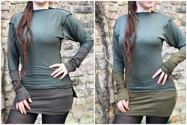 Longsleeve Kleid SchwuppDieWupp olive