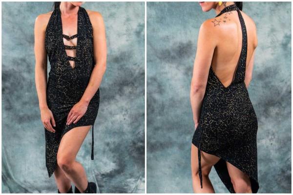 Kleid ✳ Patroon schwarz