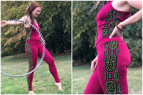 Jumpsuit cuts Ayahuasca uv pink
