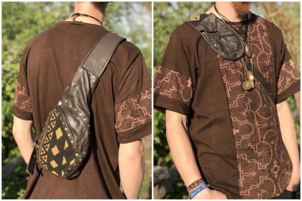 Sidebag leather brown
