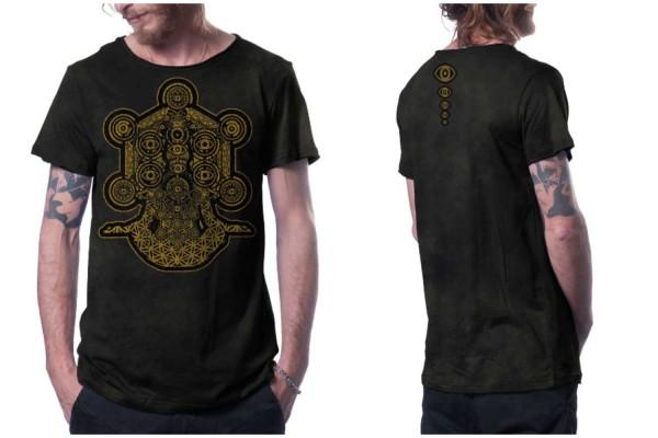T-Shirt GAIA AQUA schwarz texture