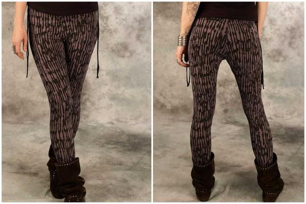 Leggings ✳ Rak schwarz/grau