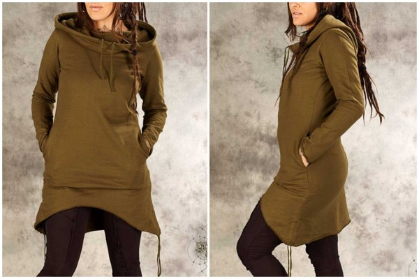 Kleid Runa olive