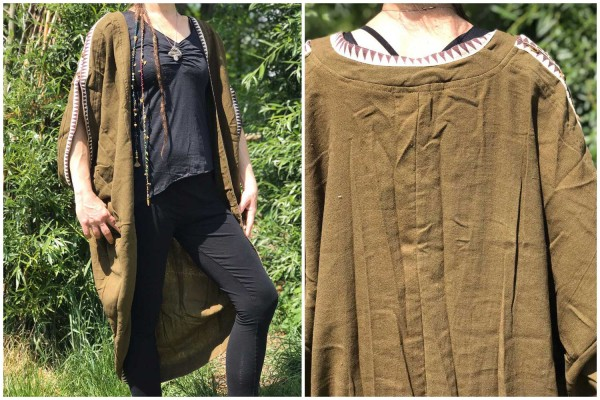 Poncho African Style olive