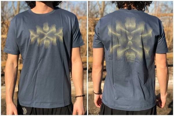 T-Shirt PSY VIBE blau