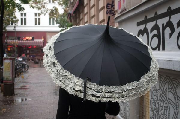 Schirm schwarz