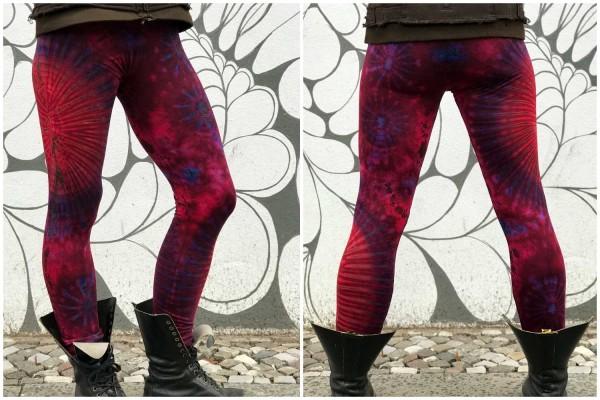 Leggins Batik rot lila