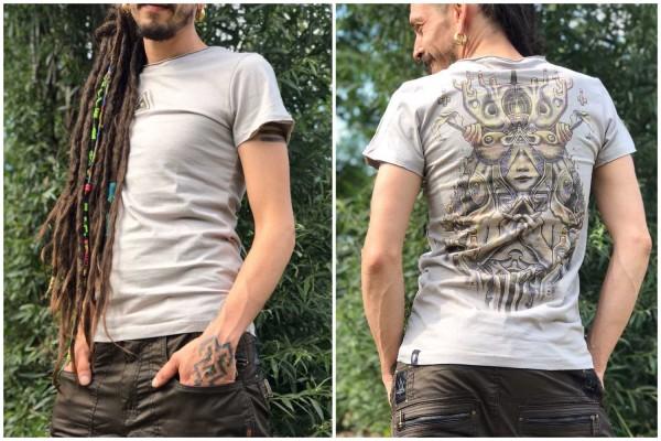 T-Shirt FOREST STEEL Plazmalab Streewear Psywear uv aktiv