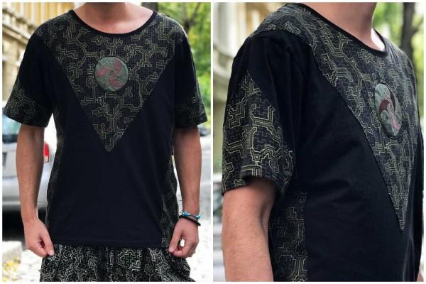 T-Shirt Shipibo schwarz