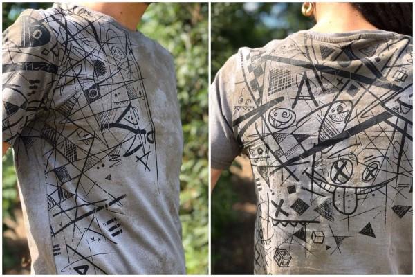 T-Shirt SPRINK STORM RUST Plazmalab Streewear Psywear uv aktiv