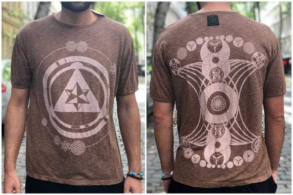 T-Shirt Sacred Geometry braun