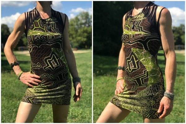 Kleid Maja Shipibo grün