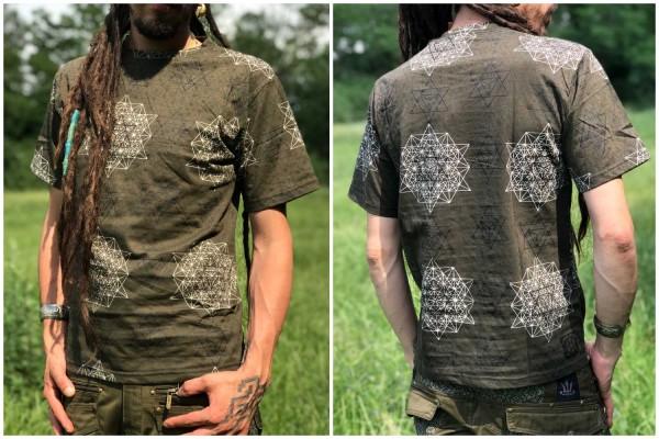 T-Shirt Oktogon khaki
