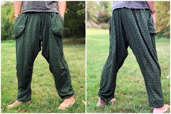 Baggy Pant lang FOL dunkelgrün