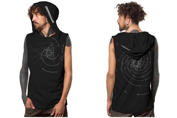 Tank Top FIBONACCI BLACK Plazmalab Streewear Psywear uv aktiv