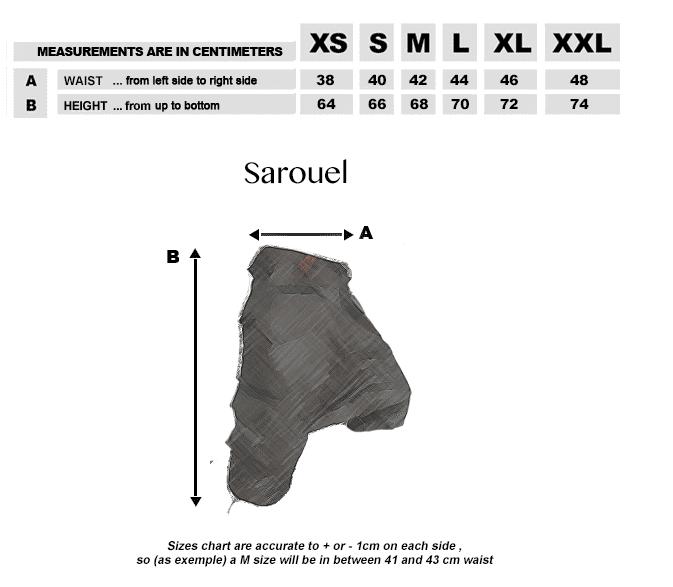 Sarouel-Groessentabelle