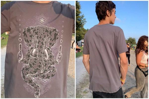 T-Shirt Ganescher grau