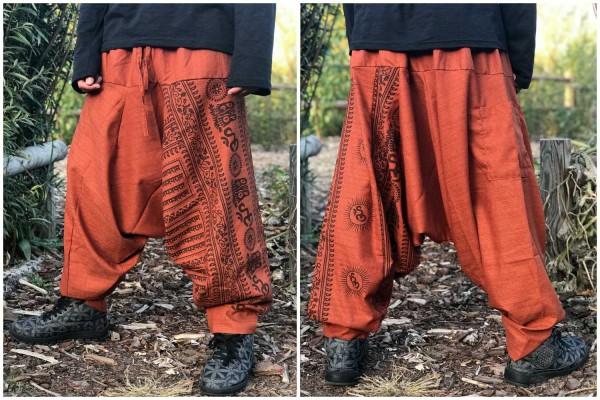 Haremshose OM Herbst orange