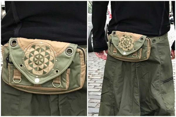 Money Belt Seed of Life olive