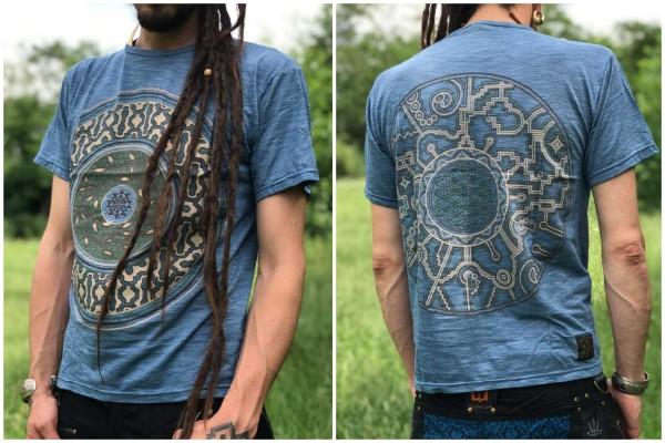 T-Shirt Mandala blau