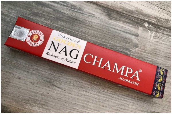 Räucherstäbchen Nag Champa golden