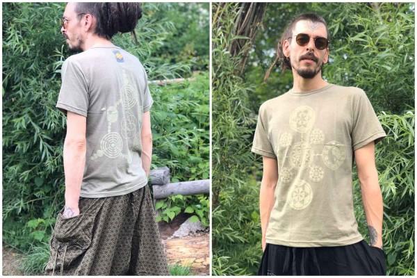 T-Shirt Sacred Geometry olive