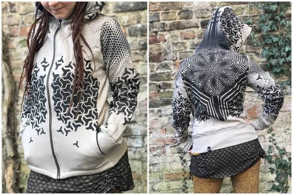 Hoodie SHURIKEN ROCK Plazmalab Streewear Psywear Kapuzenpullover Pullover Women