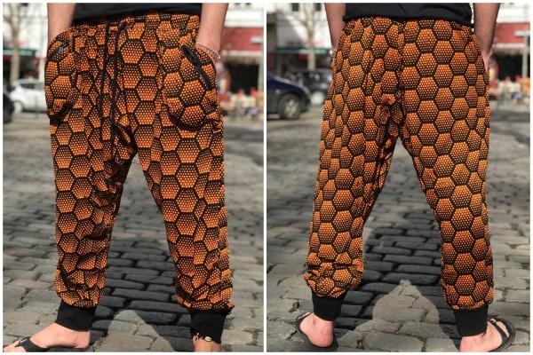 Hose lang honeycomb orange
