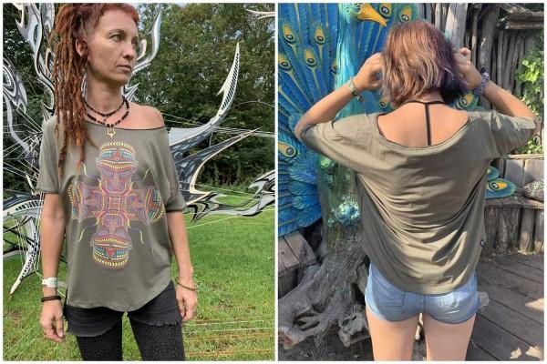 T-Shirt Women Chango khaki