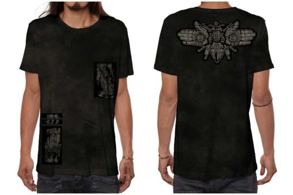 T-Shirt AMARTH Ocean schwarz