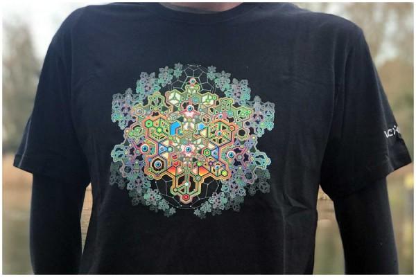 T-Shirt Coral Blast schwarz uv