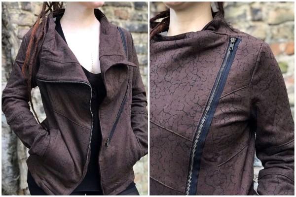 Jacke Pattern braun von Yamuna Art