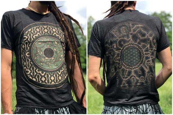 T-Shirt Mandalaa schwarz