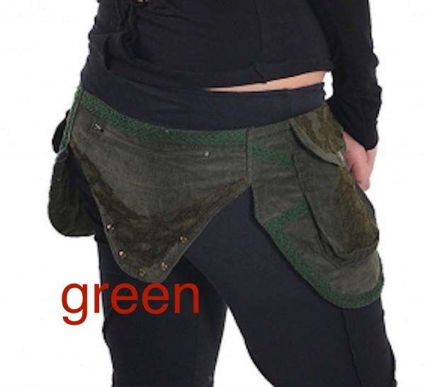 Gürteltasche Steampunk Kord grün