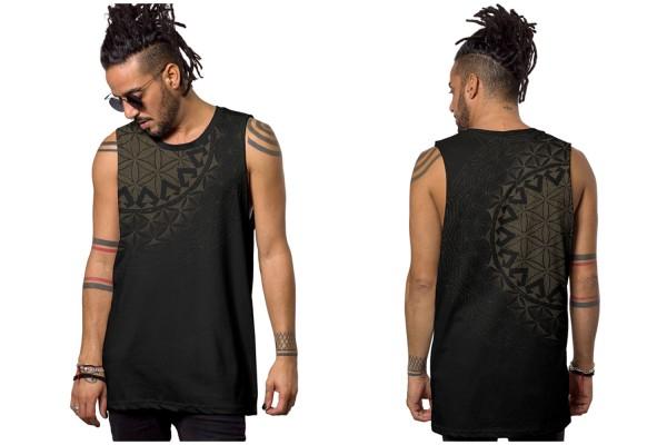 Tank Top PRAHNA BLACK Plazmalab Streewear Psywear
